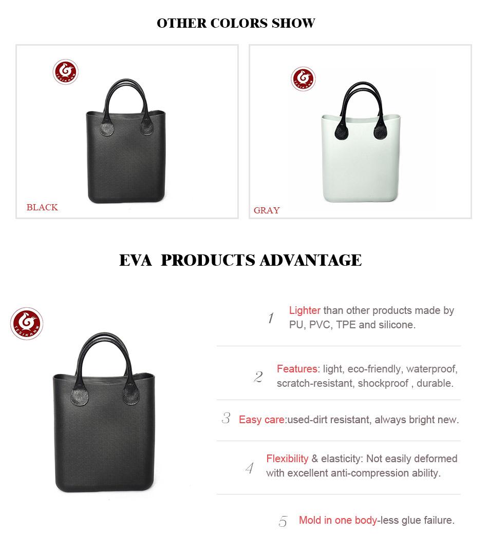 1345a2761bf0 OEM ODM Italy Popular Fashion EVA Beach Handbags Made In China white ...