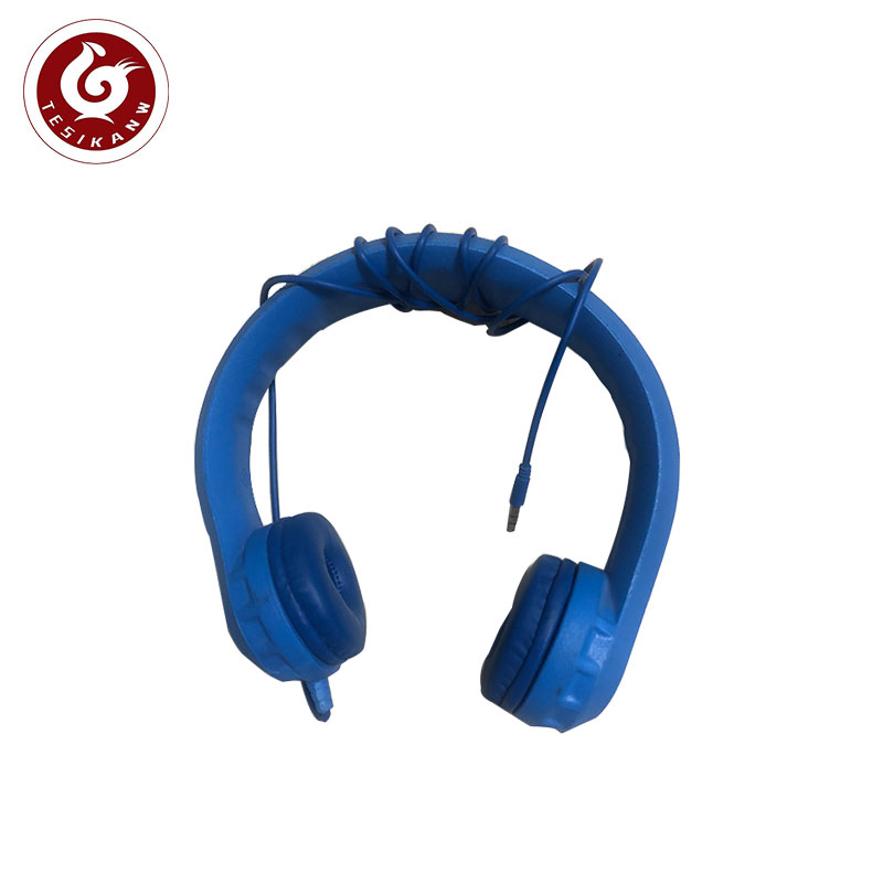 OEM ODM  China professional supplier to make kids headphone safe soft bendable EVA foam premium blue